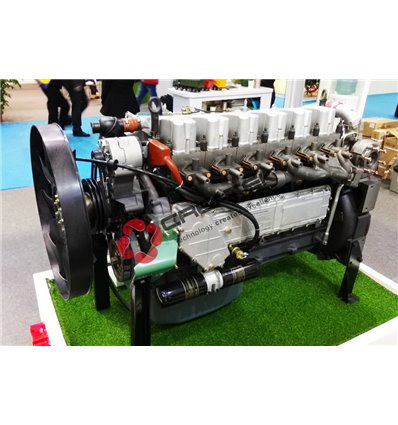 двигатель в сборе WD615.47 двухцилиндровый турбонаддув